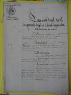 30 Sept. 1857 (Charente) Papier Timbré De 9x1f25c Inventaire Détaillé De La Maison De Mme Maisonrouge à Chateauneuf - Cachets Généralité