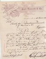Allemagne Lettre Illustrée Style Art Nouveau 11/4/1899 Carl NEUROTH FRANKFURT A Main - Allemagne