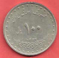 100 Rials , IRAN , Cupro-Nickel , SH 1372 , N° KM # 1261.2 , Y # 183 - Iran
