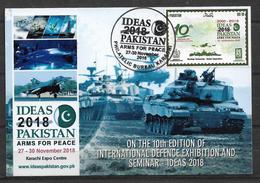 PAKISTAN POSTCARD INTERNATIONAL DEFNCE EXHIBITION 2018 - Pakistan