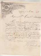 Allemagne Lettre Illustrée Style Art Nouveau 8/5/1894 S L GOLDSCHMIDT Thee & Rum Import Vins FRANKFURT A Main - Allemagne