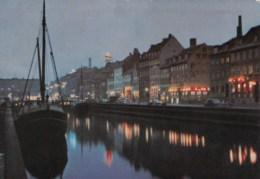 AN09 Kobenhavn Copenhagen, Nyhavn By Night - Denmark