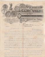 Allemagne Lettre Illustrée 31/3/1896 Ern STEIN Weinbergsbesitzer In Erdö Bénye Bei Tokay BERLIN - Allemagne