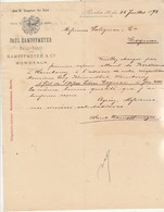 Allemagne Facture Lettre Illustrée 25/7/1892 Paul KAMPFFMEYER Vins BERLIN - Bordeaux...cognac - Allemagne