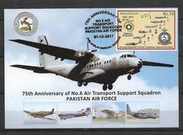 PAKISTAN POSTCARD WITH STAMP AIR TRANSPORT SQUADRON PAKISTAN AIR FORCE - Pakistan