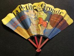 EVENTAIL PUBLICITAIRE ANCIEN  - LA PETITE GIRONDE - BORDEAUX - Publicidad