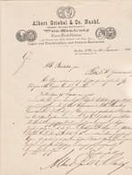 Allemagne Lettre Illustrée 28/1/1886 Albert GRIEBEL Wein Handlung Gross Destillation Import Rum Cognac Arac BERLIN - Allemagne