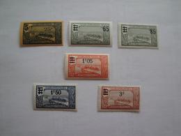 1924/27 Guadeloupe Yv 89/90 + 93 + 95/6  MH * Bateaux Ships Cote Yv 6.60 €  Scott 95 - 97 - 99 - 101/2 - Guadeloupe (1884-1947)