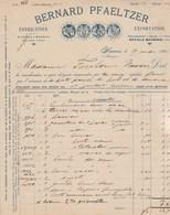 Allemagne Facture Illustrée 29/5/1896 Bernard PFAELTZER Cristaux De Bohême Porcelaine De Saxe HANAU - Germania
