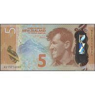 TWN - NEW ZEALAND 191 - 5 Dollars 2015 Polymer - Prefix AS - Wheeler UNC - Nuova Zelanda