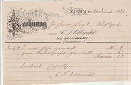 Allemagne 1/2 Facture Illustrée 21/12/1878 C F EBBRECHT HAMBURG - Allemagne