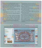 Ukraine - 100 Hryven 2018 Comm. ( 1917 - 1921 ) Souvenir UNC In Folder Lemberg-Zp - Ukraine