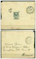 V6756 SAN MARINO 1908 Lettera Affrancata Con Stemma 15 C., 3.6.08 Per Roma, Annullo Di Arrivo, Buone Condizioni - Saint-Marin