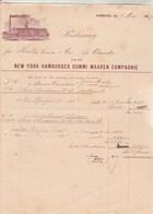 Allemagne Facture Illustrée 9/5/1889 New York Hamburger Gummi Warren Compagnie HAMBURG Transport Bateau Vapeur - Allemagne