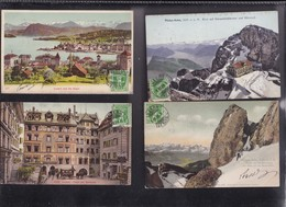 SUISSE , LUCERNE   Lot De 4 Cartes, - LU Lucerne