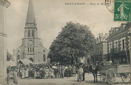 Place Du Marché à St Amand Montrond Cher ELD  Attelage Envoi à Ermond - Marchés