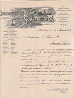 Allemagne Facture Illustrée Bateau Train 27/9/1892 SCHENKER Internationale Transporte HAMBURG - Deutschland