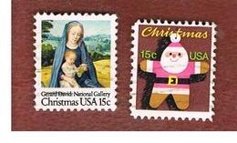 STATI UNITI (U.S.A.) - SG 1771.1772  -  1979   CHRISTMAS (COMPLET SET OF 2)            -  USED - Stati Uniti