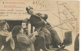 Clients Allant Chez Barnum En Fiacre . Cocher Edit Bergeret . Phenomenes . Homme Travesti En Femme - Circo