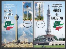 PAKISTAN POSTCARD , MAXIMUM CARD JOINT ISSUE PAKISTAN AND PERSIA TOWERS - Pakistan