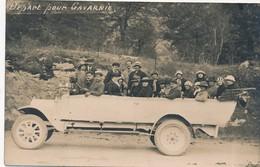I84 - Automobile - Autocar - Carte Photo - Départ Pour Gavarnie - Bus & Autocars