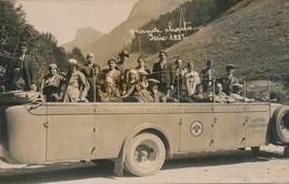 I84 - Autocar - Carte Photo - Départ Pour La Grande Chartreuse - Isère - 1932 - Transports Reppelin Et Traffort - PLM - Bus & Autocars