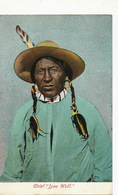 Chef Indien Chief  Lone Wolf  Colorisée - Indiens De L'Amerique Du Nord