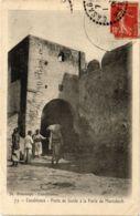 CPA CASABLANCA Poste De Garde A La Porte De Marrakech MAROC (824487) - Casablanca