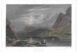 1863 DER KLOEN SEE → Gegen Den Glärnisch Original Colorierter, Stahlstich 153 X 100 Mm  ►RAR◄ - Estampes & Gravures