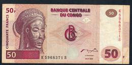 CONGO D.R. P91b 50 FRANCS 2000 #K--S   HdMBCC  VF - Congo
