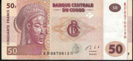CONGO D.R. P97b 50 FRANCS 2013 #KD   HdMBCC  AUNC - Congo