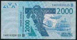 W.A.S. BENIN  P216Bn 2000 FRANCS (20)14    VF NO P.h. - Benin