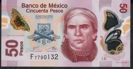 MEXICO P123Aa 50 PESOS 12.6.2012 Serie A  UNC. - Mexique