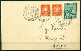 V8171 ITALIA 1937 REGNO Cartolina Affrancata Con Colonie Estive 25 C. PA + Imperiale 2 C. X 2, Da Giogo Dello Stelvio 20 - Storia Postale