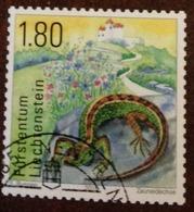 Used Stamp Of Liechtenstein 2015: Lizard Eidechse - High Value 1758 - Gebraucht
