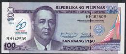 PHILIPPINES P202 100 PISO 2009 60th Year Bank COMMEMORATIVE UNC. - Philippines