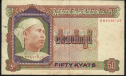 MYANMAR BURMA BIRMANIE P60 50 KYATS 1979     AVF NO P.h. ! ! - Myanmar