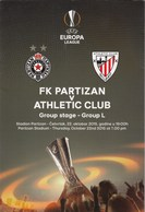 Programme FC FK Partizan Belgrade Serbia  FC Athletic Club Bilbao Spain 2015. Fc Football Match UEFA - Tickets D'entrée