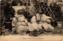 CPA Tanger La Sieste A L'Interieur Des Jardins MAROC (824844) - Tanger