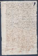 Manuscrit De 1659.Belle Calligraphie à Déchiffrer.Loudun Et Champigny. - Manuscrits