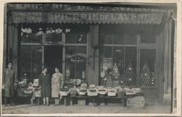 I85 - COMMERCE - Carte Photo - EPICERIE DE L'AVENUE - Vins Et Liqueurs à Emporter - Magasins