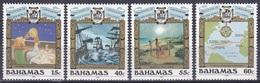 Bahamas 1991 Geschichte History Entdeckungen Discovery Kolumbus Columbus Schiffe Ships Indianer, Mi. 752-5 ** - Bahamas (1973-...)