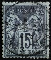 -Sage N°77  Type II   O. PARIS Bd Beaumarchais 6 Avril 1875. - 1876-1898 Sage (Type II)