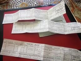 """4 BULLETINS DE PAIE  CLINIQUE CHIRURGICALE """"SAINT-JEAN"""" TOULON Voir Les Scanns-Militaria Document Militaire - Documents"""