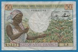 AFRIQUE ÉQU. FRANÇAISE ET CAMEROUN 50 FrancsND (1957)Serie Z.8  95303  P# 31 - Cameroun