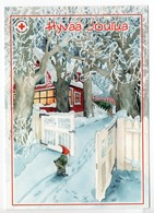 Postal Stationery RED CROSS  Finland - CHRISTMAS POSTCARD - Artist: INGE LÖÖK - KABOUTER / GNOME / LUTIN - Postage Paid - Finland