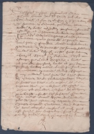 Manuscrit De 1637.Belle Calligraphie à Déchiffrer.Pouant , Sammarçolles. - Manuscrits