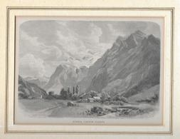 1883 NAEFELS, CANTON GLARUS → Holzstich 167 X 115 Mm - Estampes & Gravures