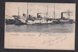 B35 /  Frankreich Kolonien Ägypten Alexandrie Hafen Egypte 1904 - Rumänien - Cartes Postales