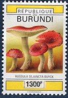 Burundi, Timbre Oblitéré, Champignon, Russula Sejuncta Buyck, Valeur Faciale 1300 F - Burundi